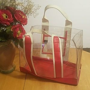 Clear Nine West Large Tote